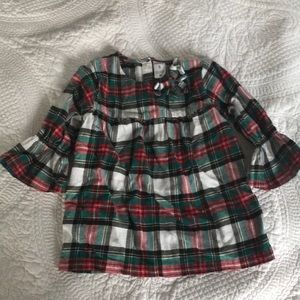 Carters 3/4 Sleeve Flannel Top